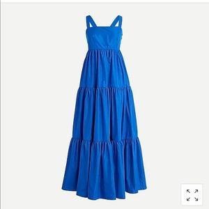 JCrew Tiered Taffeta Dress